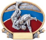 3D Oval Wrestling M 3D Oval Resin Trophy Awards