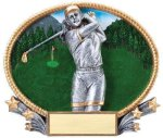 3D Oval Golf F 3D Oval Resin Trophy Awards