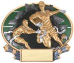 Full Color Flag Football Award 3D Oval Resin Trophy Awards