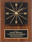 Genuine Walnut Clock Plaque Achievement Awards