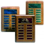 Perpetual Plaque with Blue Plates Achievement Awards