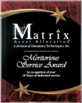 Red Marble Shooting Star Acrylic Award Recognition Plaque Achievement Awards