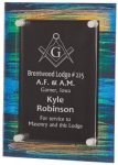 Painted Acrylic Stand-Off Plaque Award Achievement Awards