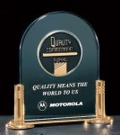 Jade Acrylic Award with Medallion Arch Awards