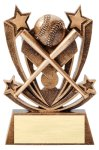 Twin Stars Baseball Award Baseball Trophy Awards