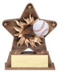 Star Burst Resin Baseball Baseball Trophy Awards