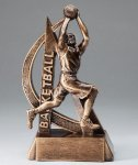 Ultra Action Series Sculpted Antique Gold Basketball - Male Resin Trophy  Basketball Trophy Awards