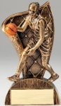 USA Flag Series Basketball- Female Resin Trophy  Basketball Trophy Awards