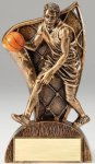 USA Flag Series Basketball - Male Resin Trophy  Basketball Trophy Awards