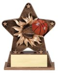 Star Burst Resin Basketball Basketball Trophy Awards