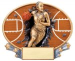 Motion X Oval  Basketball Basketball Trophy Awards