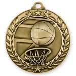 2 3/4 Basketball Wreath Medallion Basketball Trophy Awards