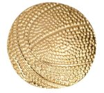 Gold Basketball Metal Chenille Letter Insignia Basketball Trophy Awards