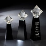 Brilliant Black Optical Crystal Awards