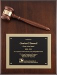 Deluxe Gavel Plaques Boss Gift Awards