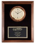 Genuine Walnut Clock Plaque Boss Gift Awards