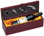Wine Box With Gold Satin Lining Boss Gift Awards