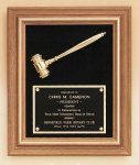 American Walnut Frame Gavel Plaque Boss Gift Awards