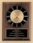 American Walnut Vertical Wall Clock Boss Gift Awards