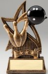 Star Series Sculpted Antique Gold Bowling Resin Trophy  Bowling Trophy Awards
