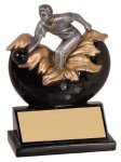 Male Bowling Xploding Resin Bowling Trophy Awards
