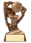 Stars Basketball Resin Award Bronze and Gold Star Resin Trophy Awards