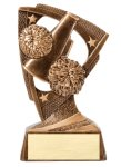Stars Cheerleader Resin Award Bronze and Gold Star Resin Trophy Awards