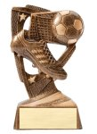 Stars Soccer Resin Award Bronze and Gold Star Resin Trophy Awards