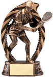 Bronze and Gold Tennis , Female Award Bronze and Gold Star Resin Trophy Awards