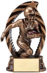 Antique Bronze and Gold, Football Award Bronze and Gold Star Resin Trophy Awards