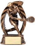 Bronze and Gold Tennis, Male Award Bronze and Gold Star Resin Trophy Awards