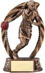 Bronze and Gold Basketball, Female Award Bronze and Gold Star Resin Trophy Awards