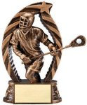 Antique Bronze and Gold Lacrosse, Male Award Bronze and Gold Star Resin Trophy Awards