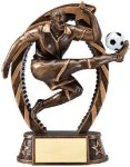 Bronze and Gold Soccer, Male Award Bronze and Gold Star Resin Trophy Awards