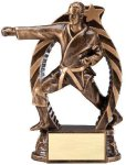 Bronze and Gold Karate, Male Award Bronze and Gold Star Resin Trophy Awards