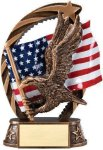 Bronze and Gold Eagle Award Bronze and Gold Star Resin Trophy Awards