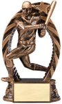 Antique Bronze and Gold Softball, Female  Award Bronze and Gold Star Resin Trophy Awards