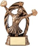 Antique Bronze and Gold Cheer Award Bronze and Gold Star Resin Trophy Awards