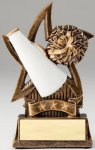 Star Series Sculpted Antique Gold Cheer Resin Trophy  Cheerleading Trophy Awards