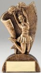 USA Flag Series Cheerleader- Female Resin Trophy  Cheerleading Trophy Awards