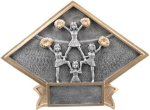 Cheer Diamond Plate Resin  Cheerleading Trophy Awards