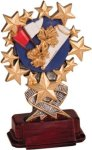 Cheerleading - Starburst Resin Trophy Cheerleading Trophy Awards