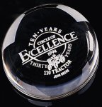 Dome Paper Weight Circle Awards