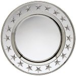 Round Plate Silver With Stars Circle Awards