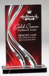 Illusion Acrylic Red Colored Acrylic Awards