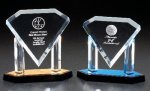 Diamond On Posts Colored Acrylic Awards