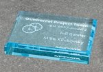 Paper Weight - Straight Bevel Colored Acrylic Awards