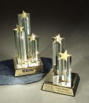 Star Burst Double Star Colored Acrylic Awards