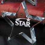Tapered Star Corporate Crystal Awards