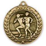 2 3/4 Cross Country Wreath Medallion Cross Country Trophy Awards